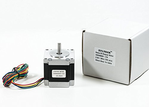 Zyltech Nema 23 Stepper Motor 2.5 A 1.3 Nm 184 Oz.In 56Mm Body W/ 1M Cable For 3D Printer/Cnc