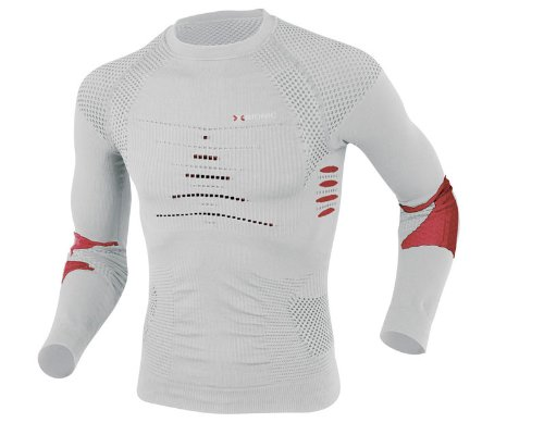 X-Bionic Ski Touring Shirt Long Men xI20154, pearl grey/red günstig kaufen