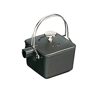 Staub 1/2-Quart Square Teapot, Black