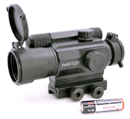 Phantom Multi-Reticle Red Dot Reflex Sight 1X35Mr With Picatinny Mount Aa Battery