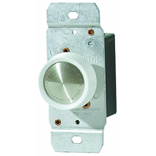 Do it Best 600W Rotary Dimmer Switch-WHITE/IVORY PUSH DIMMER