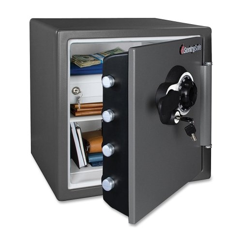 "Sentry Fire-Safe Dial Mechncal Lock Business Safes-Electronic Bus Safe,16-3/10X19-3/10""X17-4/5"",1.23 Cu.Ft,Bk"