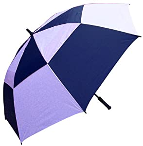 RainStoppers 60-Inch Windbuster Golf Umbrella (Navy and White)