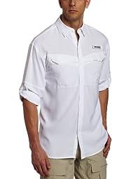 Columbia Men\'s Low Drag Offshore Long Sleeve Shirt, Large, White