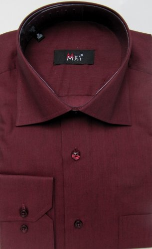 MUGA mens shirts for Casual and Formal, Burgundy, Size 3XL