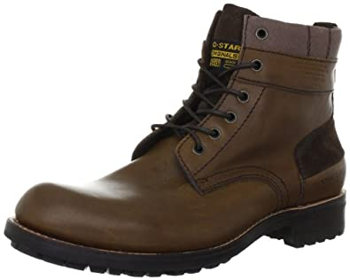 G-Star Raw Patton III Officer Plain Toe Mens Leather Boots - Brown - SIZE US 13
