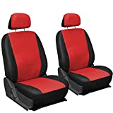 Oxgord Leatherette Bucket Seat Cover Set for Car/Truck/Van/SUV, Red & Black
