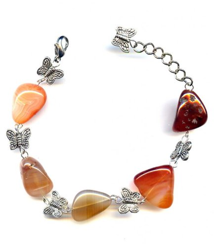 Bracelet made of Butterfly and agate