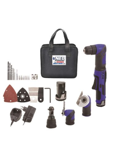 NEO The Ultimate 12V Cordless Multi Head Tool- Drill/Ratchet/Cutter/Scraper (Cordless Bolt Cutter compare prices)