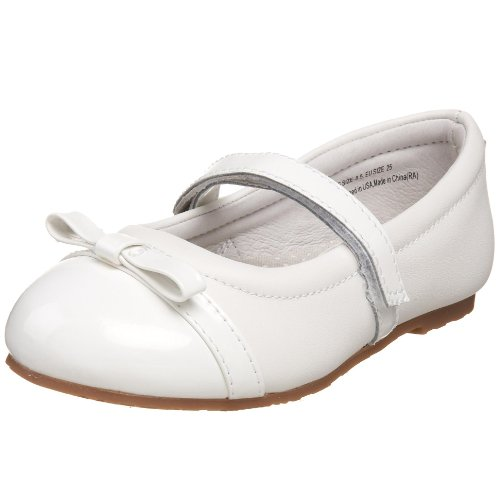 pediped Flex Penny Mary Jane (Toddler/Little Kid),White,24 EU (7.5-8 M US Toddler)