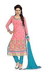 Vardhman MAHEK 60GRAM Gajri Georgette unstitched Straight Salwar Suit Dress Material