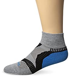 Balega Enduro V-Tech Quarter Socks, Grey/Turquoise/Blue, Large