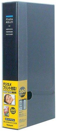 Nakabayashi Photo Holder 360 Pieces of Black Cardboard Pocket Album Black Ph1036d