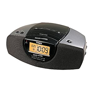 shop in usa timex t276b stereo clock radio nature and bell sounds auto set electronic alarm. Black Bedroom Furniture Sets. Home Design Ideas