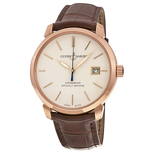 new-mens-ulysse-nardin-san-marco-18k-solid-rose-gold-automatic-chronometer-watch-8156-111-2-91
