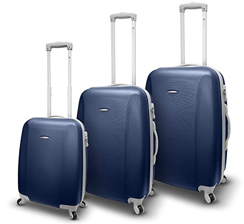 SET 3 TROLLEY 4 RUOTE RONCATO TRIXIE - ABS - ULTRALIGHT (BLU NAVY)