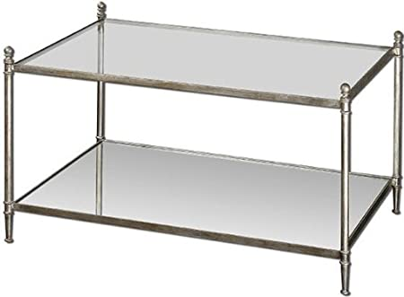 "Lance Coffee Table, 22""Hx36""W, ANTIQU4 SILVER"