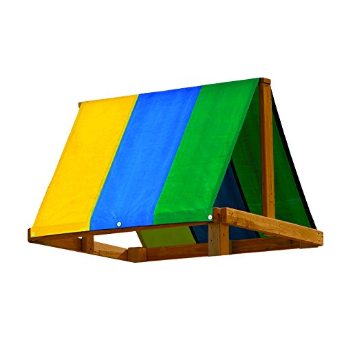 Multi-Color Replacement Tarp (Wooden Playhouse With Slide compare prices)