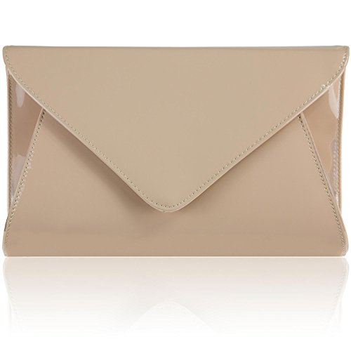 Zarla Patent Ladies Flat Clutch Bridal Party