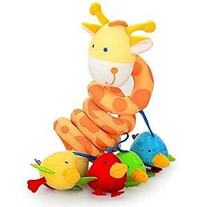 Muti Color bebé jirafa peluche colgante juguetes para el cochecito de cama - BebeHogar.com