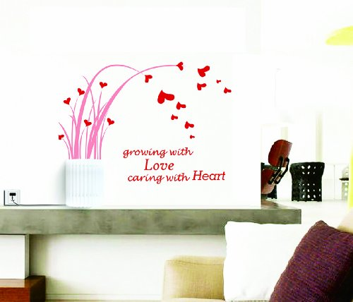 Dream Wall Decal, Flying Hearts