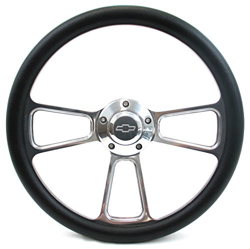 Forever Sharp Muscle Aluminum Steering Wheel w/ 69-94 Chevy GM Adapter Kit (Steering Wheel Chevy Truck compare prices)