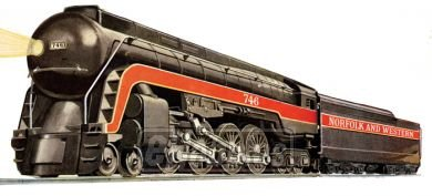 Williams By Bachmann Norfolk & Western J Class 484 O Scale Steam Locomotive