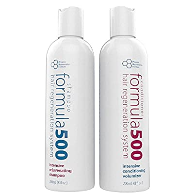 #1 Hair Growth System - Formula 500 Hair Regeneration System - Shampoo and Conditioner 8 oz each (Great for preventing hair loss)