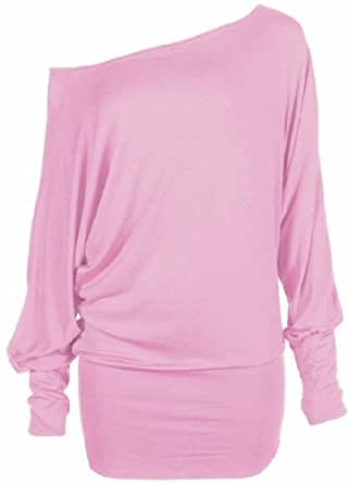 Funky Boutique Women's Plus Size Batwing Top Baby Pink 16-18 LXL