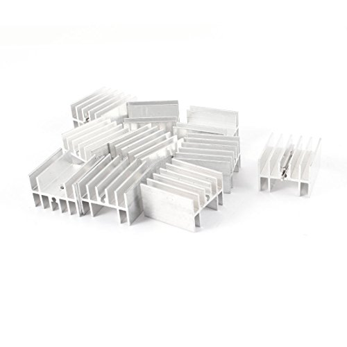 10 Pcs 25mm x 23mm 16mm to 220 t-220 audion dynatron 7812 7805 thermal mosfet dissipator sinks transfer coefficient Aluminum Heatsink for Power Transistor FET Heat Sink Extrusion Fins