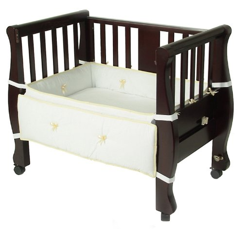 Arm's Reach Co-Sleeper Bassinet Sleigh Bed, Expresso