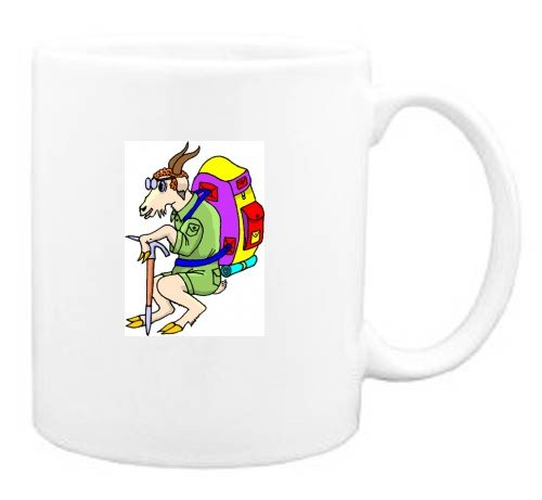 Mug with goat, prospector, prospecting, animal, hiking