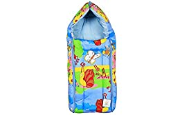 Ole Baby 3 in 1 Colorful Insect Party Hooded Reversible Carry Nest cum Baby Sleeping Bag
