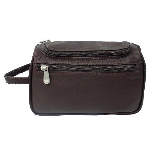 piel-leather-u-zip-toiletry-kit-chocolate-one-size
