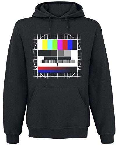 Sfondo Test TV Felpa con cappuccio nero XXL