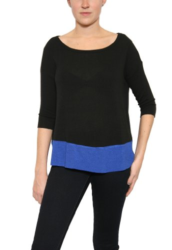 Women's Bailey 44 And I Said What I Meant Sweater in Black/Cobalt Size S