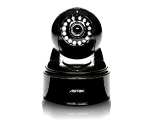 Astak Pan/Tilt Wifi IP Wireless Network Surveillance Camera with Audio, Night Vision and Remote access