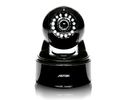 Astak Pan/Tilt Night Vision IP Network Camera (Black)