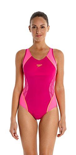 speedo-womens-fit-splice-muscle-back-swimsuit-magenta-fluorescent-pink-fluorescent-orange-size-30