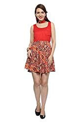 Akkriti By Pantaloons Women's Dress (205000004489436_Large_Red)