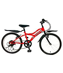 Kross Spider Multi Speed Steel Bicycle, 24-inch (Black)
