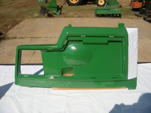 John Deere Replacement Left Side Hood Panel AM128983 for models 415, 425, 445 and 455.