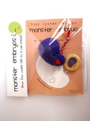 Purple Monster Embryo Designer Plush Fleece Mini Figure By Tiny Oyster Labs - 1