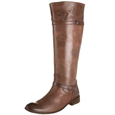 FRYE Women's Shirley Riding Boot, Dark Brown, 10 M US