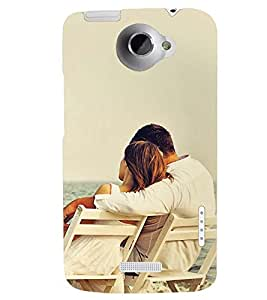 Printvisa Romantic Couple On A Beach Back Case Cover for HTC One X::HTC One XT::HTC 1X