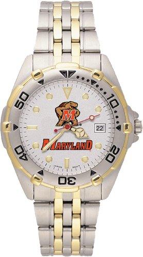 Ncaa Maryland Terrapins Men'S All Star Watch Stainless Steel Bracelet