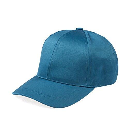 Unisex Woemn Man Satin Polyester Fitted Hat Plain Adjustable Baseball Sports Visors Leisure Cap by Babyfirstshop