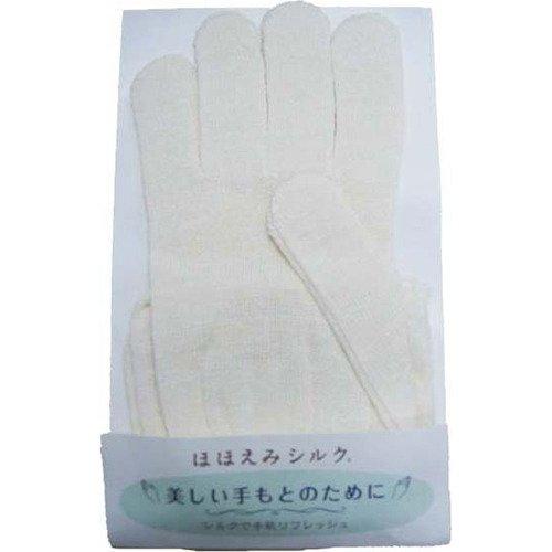 ラッシュ ほほえみシルク 絹手袋W ホワイト フリーサイズ