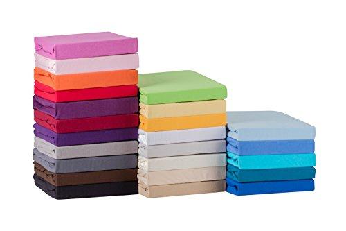 STARCK-Soft-Comfort-Baumwolle-Jersey-Stretch-Spannbettlaken-Wei-140x200cm-bis-160x200cm