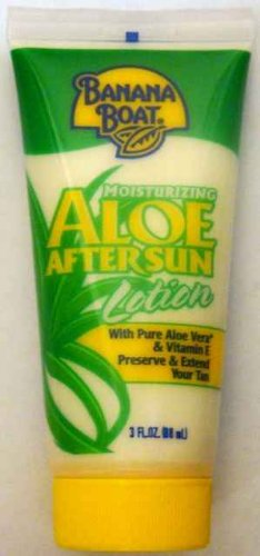 Banana Boat Moisturizing Aloe After Sun Lotion Travel Size 3 Oz (Pack of 15)